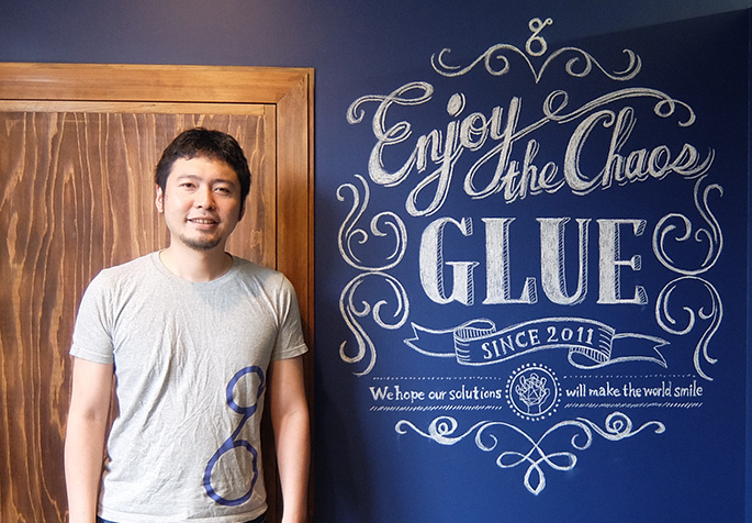 Kota Sakoda, the CEO of Fukuoka-based Glue Inc.